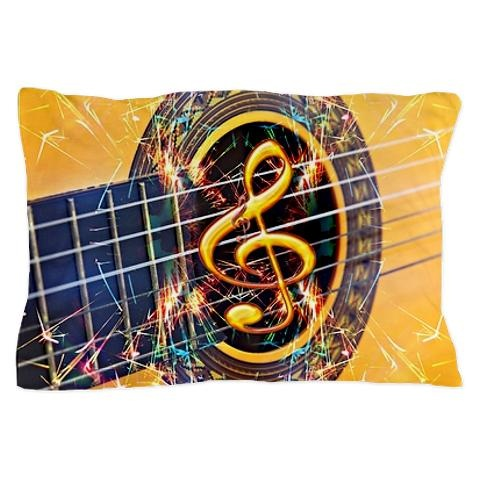 Stylish guitar pillow cases