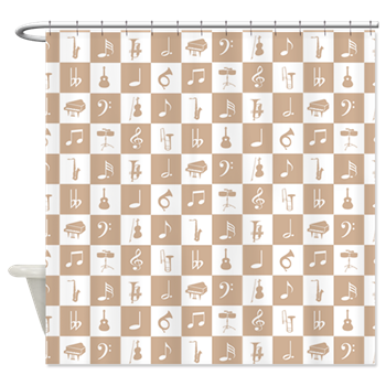 Music Themed Shower curtain and designer bathroom accessories
