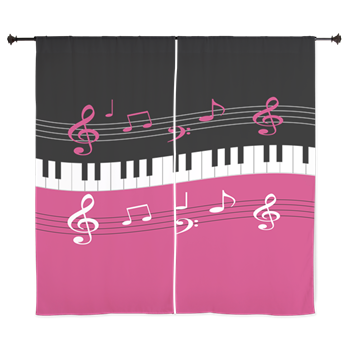 Designer curtains for the music lover