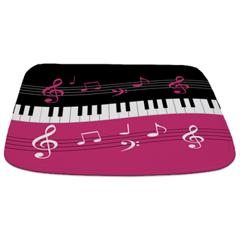 Pink black and white music themed designer homewares