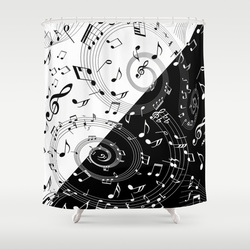 Contemporary music  Shower print shower curtain