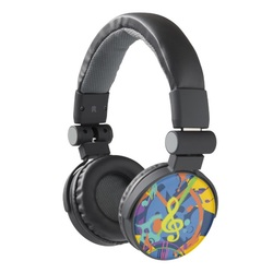 Bright Abstract Music themed Headphones