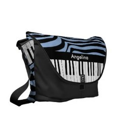 Trendy zebra stripes and piano keys bag