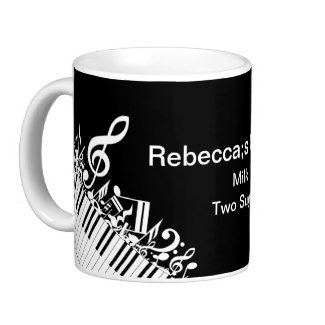 Personalized mug for the piano player