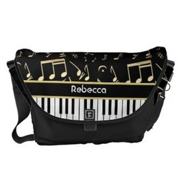 Music themed stylish messenger bag