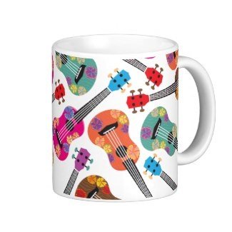 Colorful Ukeleles Classic White Coffee Mug
