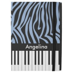 Zebra Print and Piano keys ipad pro case