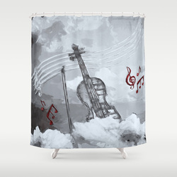 heavenly music shower curtain