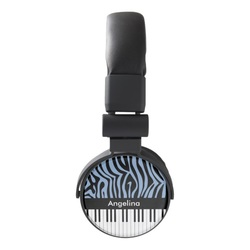 Cool zebra stripe headphones