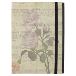 Vinatge Roses and music score ipad pro sleeve