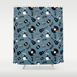 mix music themed shower curtain
