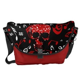 Punk skull musical notes designer bag