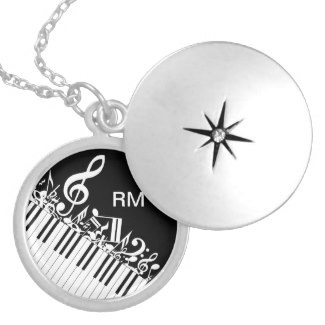 Monogrammed necklace for the piano player