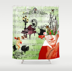 Classical music, Beethoven shower curtain