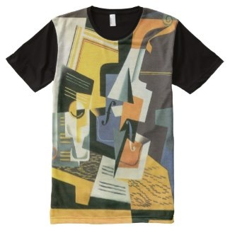 Abstract music cubism designer t-shirt