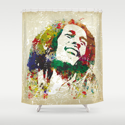 marley Bob shower curtain