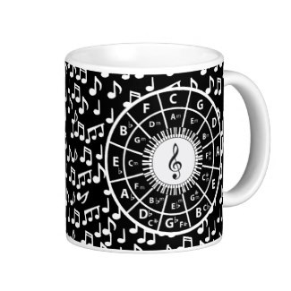 circle of fifths music coffee cup