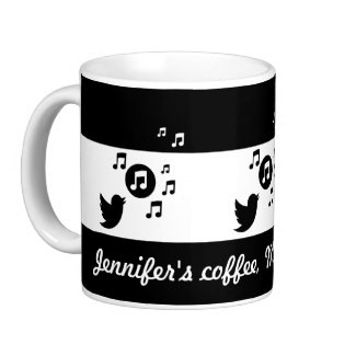 Personalized song bird coffee mug