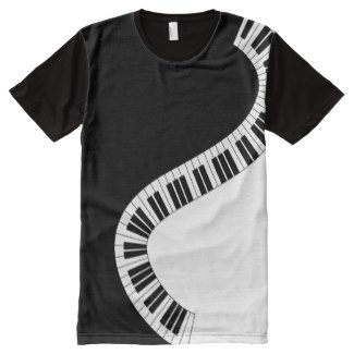 Trendy swerving piano keys t-shirts