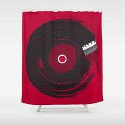 Art ofMusic designer shower curtain